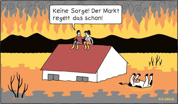 Cartoon | Klimabericht | © Katharina Greve