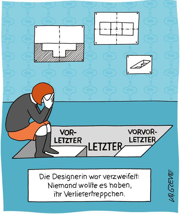 Cartoon | Verlierertreppchen | © Katharina Greve