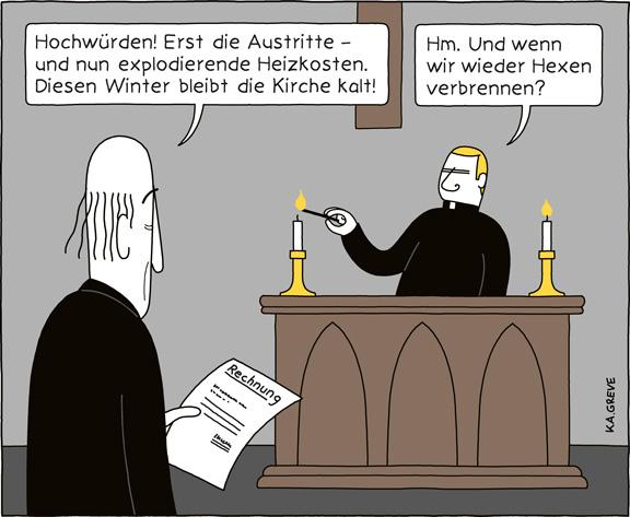 Cartoon | Heizkosten | © Katharina Greve