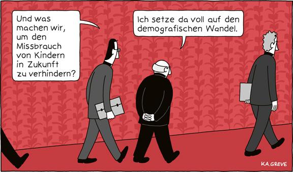 Cartoon | Missbrauch | © Katharina Greve